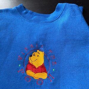 Embroidered Winnie the Pooh vintage crew neck